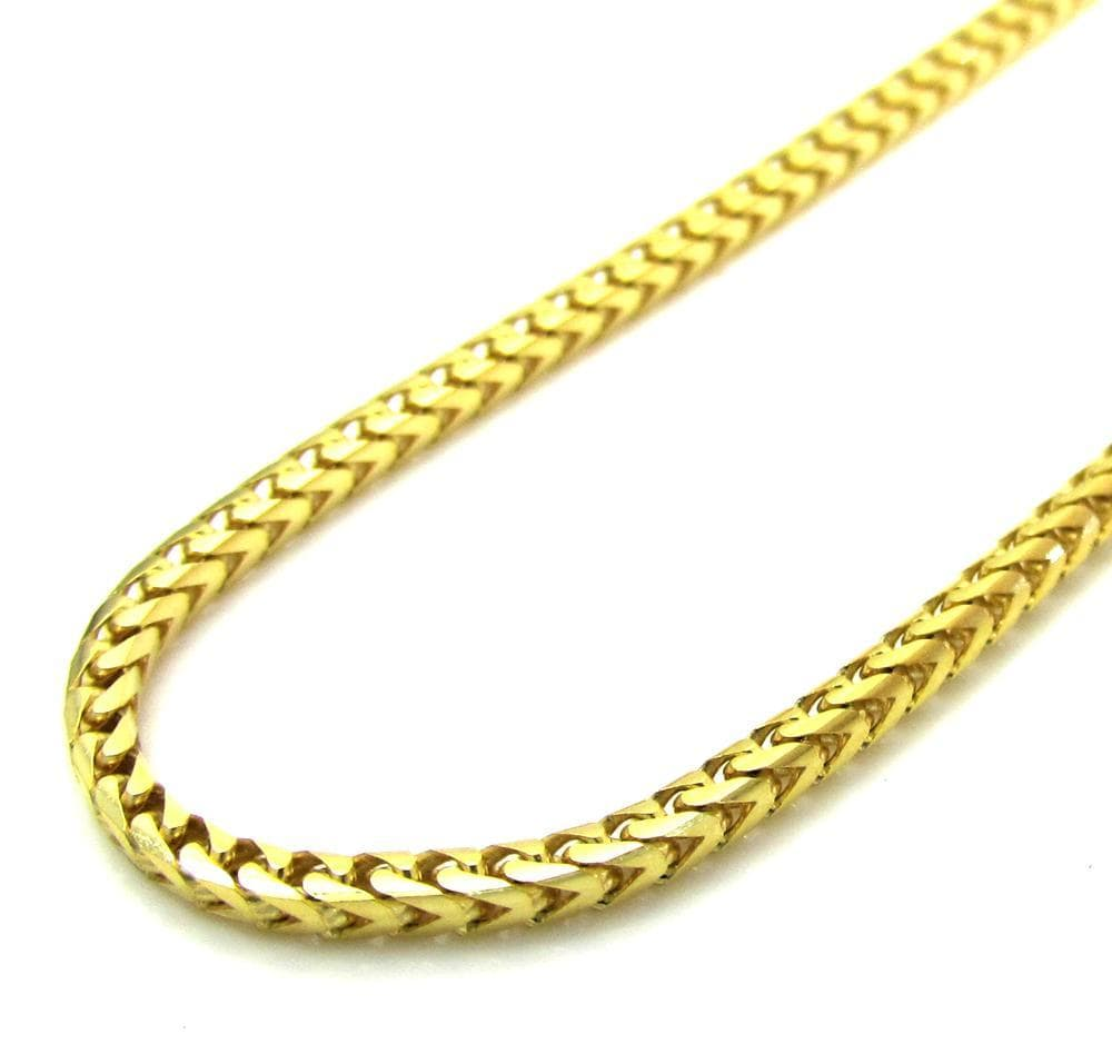 86f1857897158 14K Yellow Gold 2.5mm Solid Franco Chain