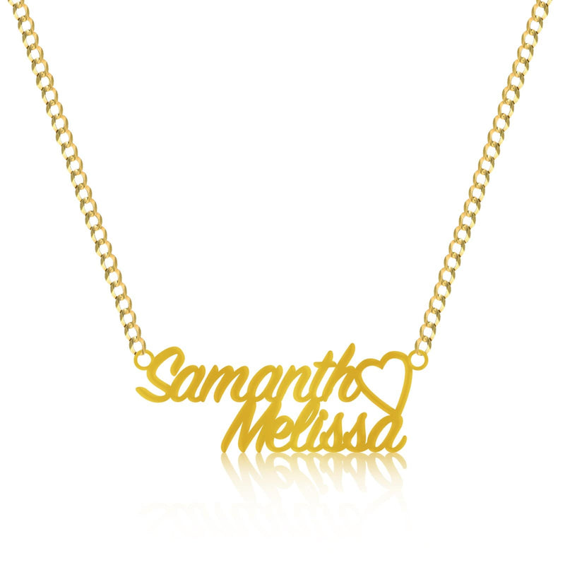 14K Yellow Gold SignPainter Name Plate Pendant