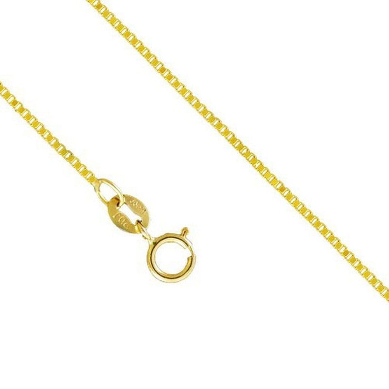14K Yellow Gold 1.0MM Box Necklace Spring Clasp 16 to 24 Inches, Chain, Jawa Jewelers, Jawa Jewelers