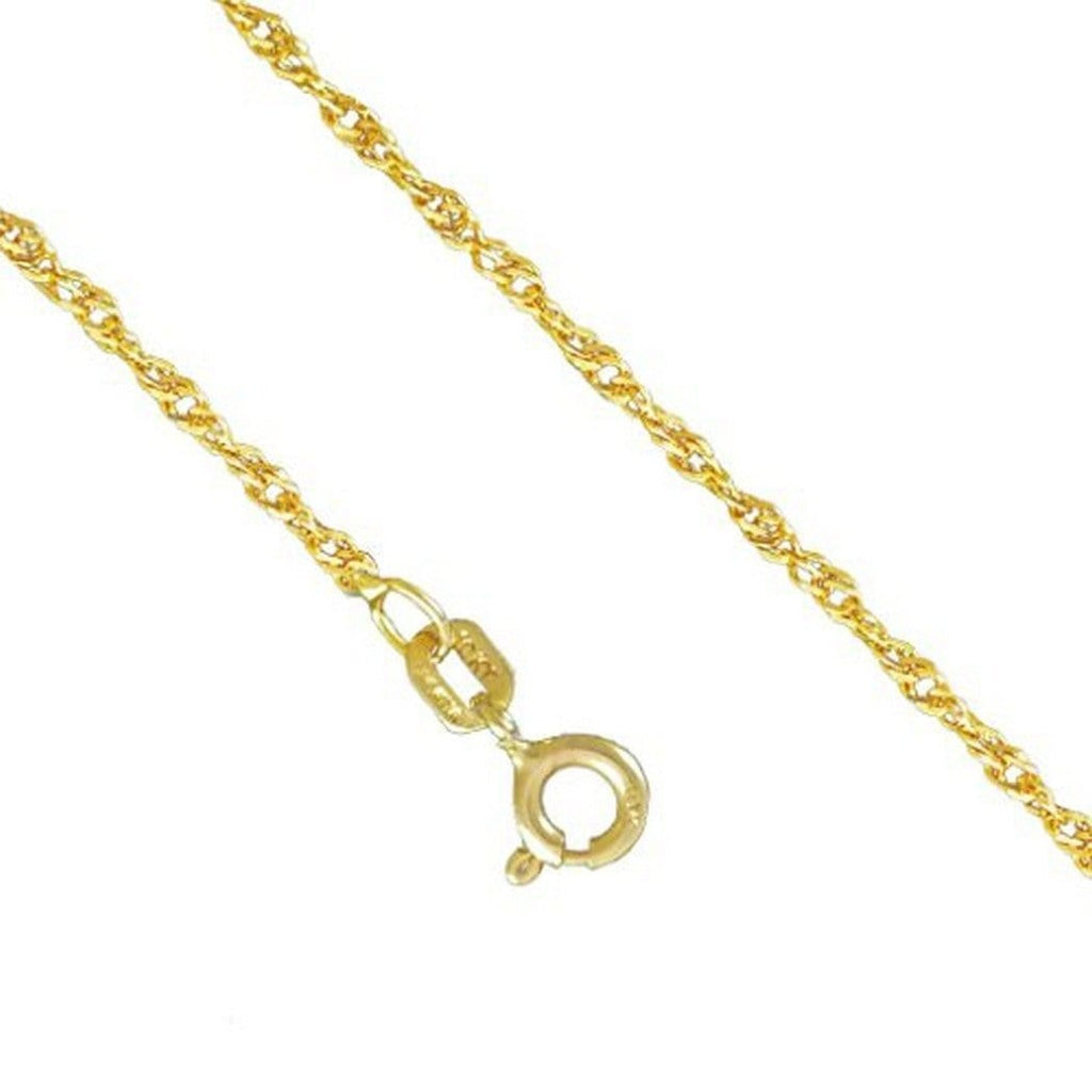 10K Yellow Gold 2.0MM Singapore Necklace Spring Clasp 16 to 24 Inches - Jawa Jewelers