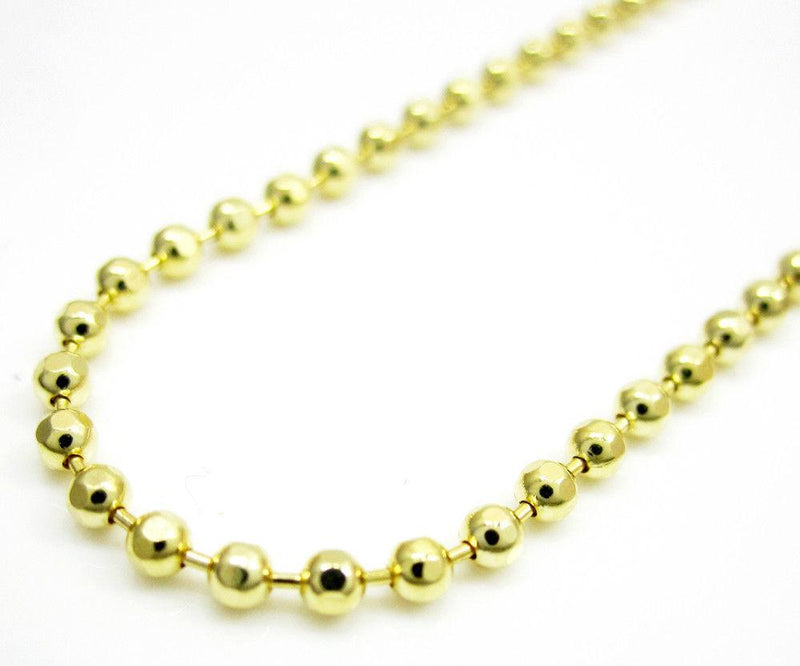 1.8MM 14K Yellow Gold Plain Dog Tag Chain Necklace - Jawa Jewelers