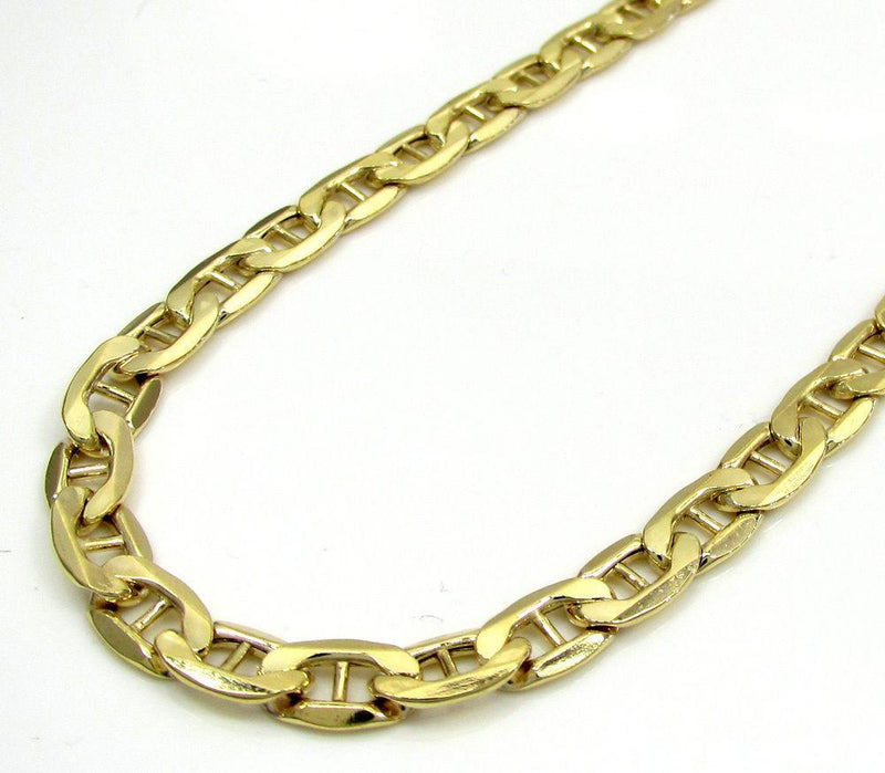 "14K Solid Yellow Gold 3MM Mariner Link Bracelet 7"" Inches, Bracelets, Jawa Jewelers, Jawa Jewelers"