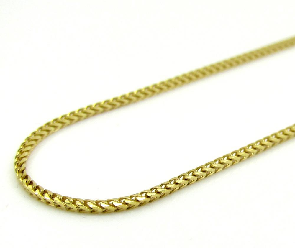 14K Yellow Gold 1MM Diamond Cut Franco Chain, Chain, JJ-AG, Jawa Jewelers