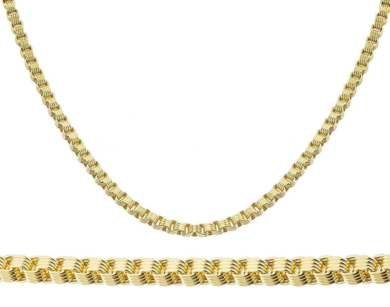 "10K Yellow Gold 6.5MM Alexander Chain Necklace 20"" - 28"" - Jawa Jewelers"