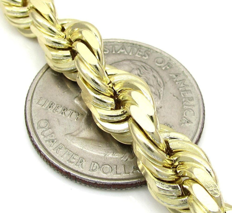 7MM gold rope chain bracelet