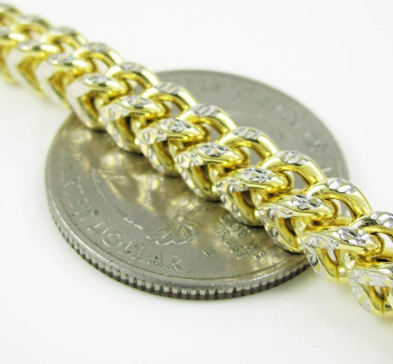 5.5MM Yellow Gold Pave Franco Chain