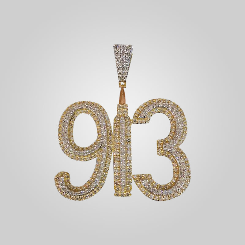 10K Yellow Gold 913 Diamond Pendant