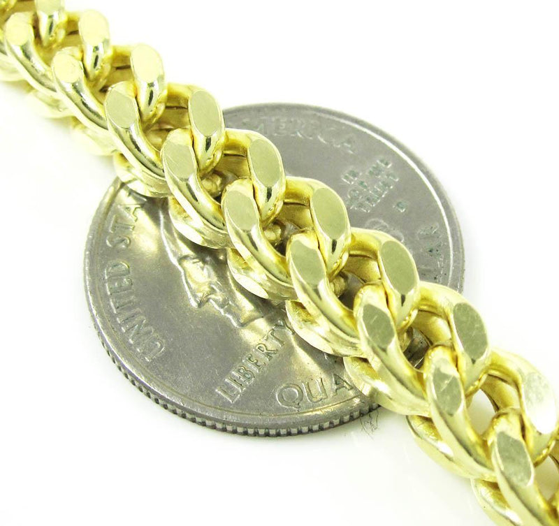 6MM 10K Yellow Gold Franco Chain