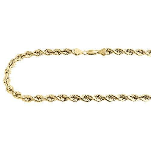 Yellow Gold Rope Chain 5MM Bracelet
