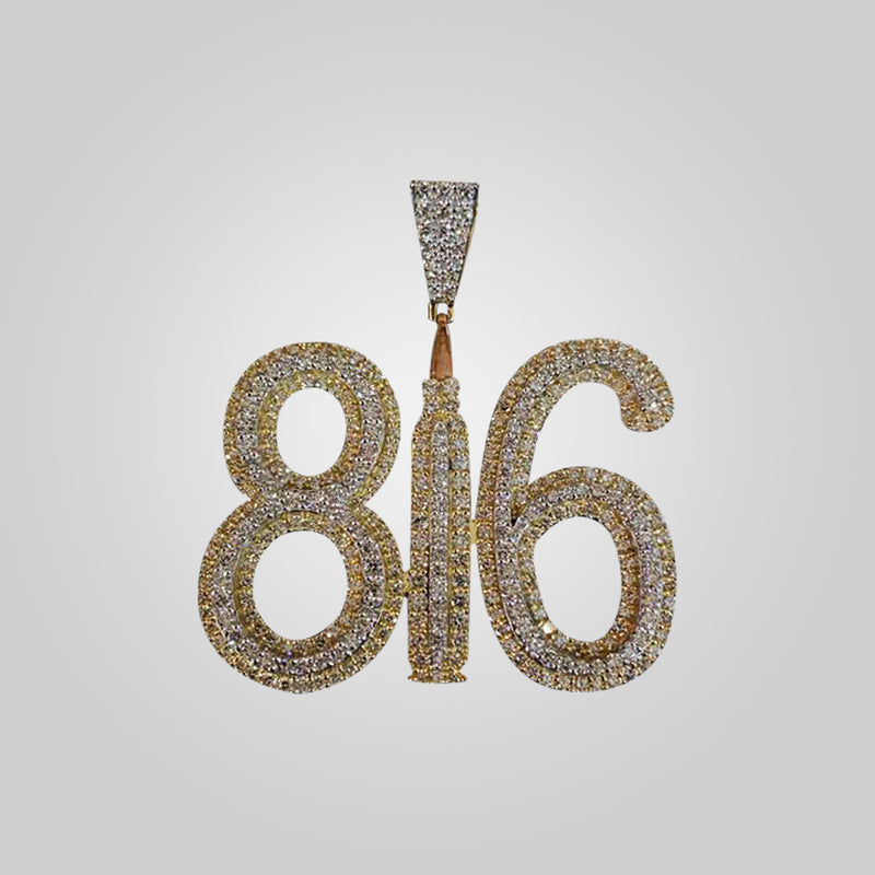 10K Yellow Gold 816 Diamond Pendant