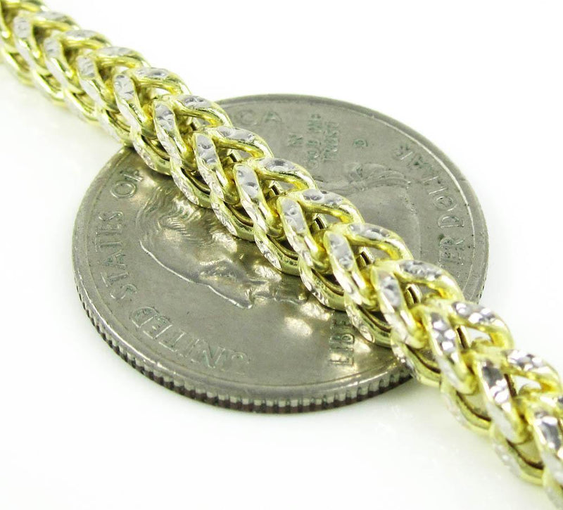 4MM yellow Gold Franco Chain