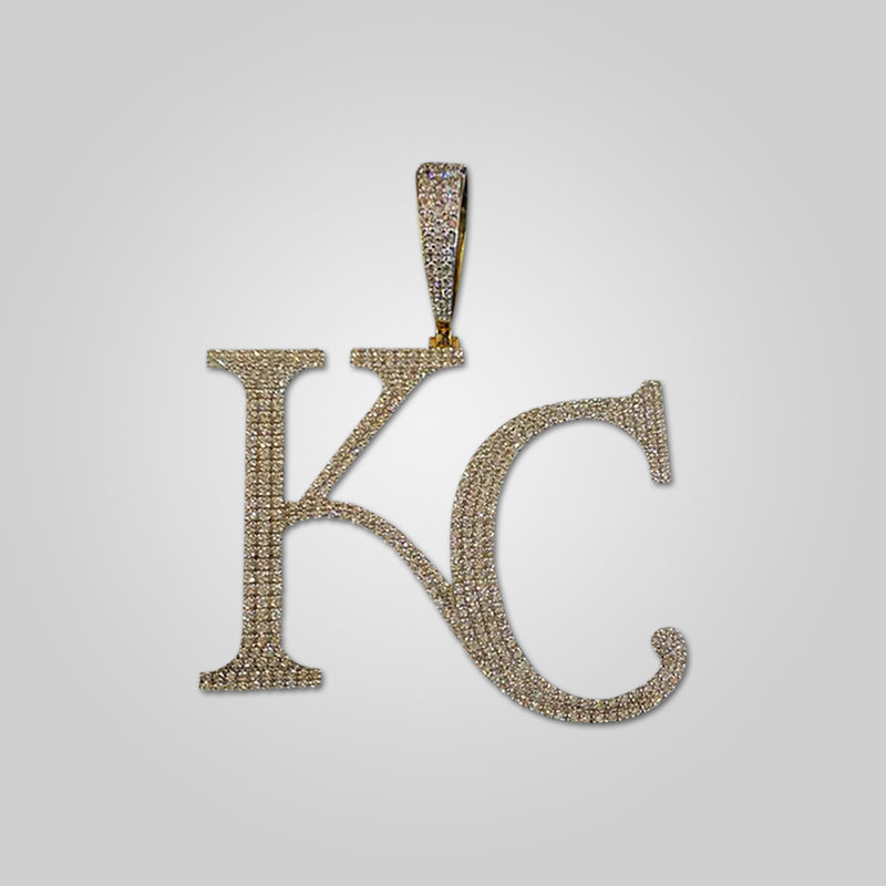 10K Yellow Gold Kansas City KC Diamond Pendant