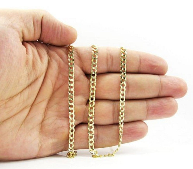 14K Yellow Gold 4.3MM Cuban Curb Chain Necklace