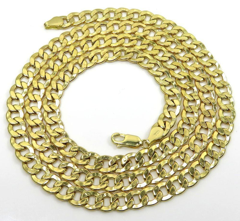 Yellow Gold Cuban Link Chain Bracelet
