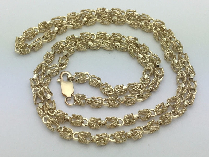 "6MM Womens 10K Yellow Gold Turkish Style Link Chain Necklace 20""-28"" Inches, Chain, Jawa Jewelers, Jawa Jewelers"