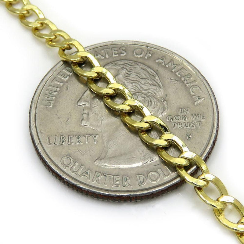 2.5MM 10K Yellow Gold Hollow Cuban Chain, Chain, Jawa Jewelers, Jawa Jewelers