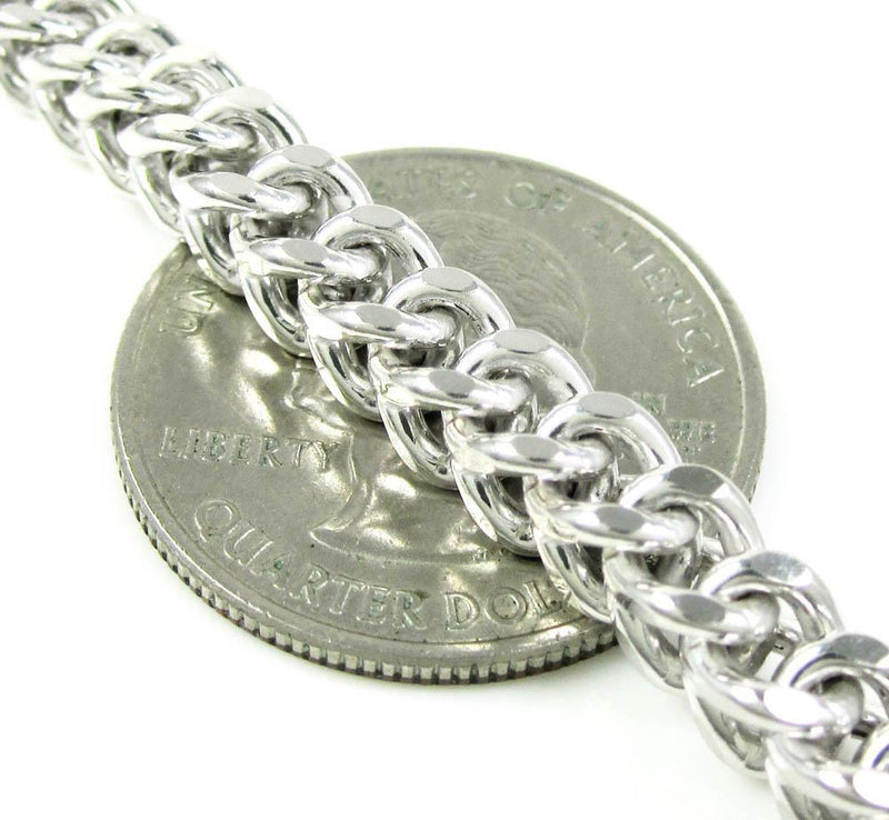 5.5MM White Gold Franco Chain