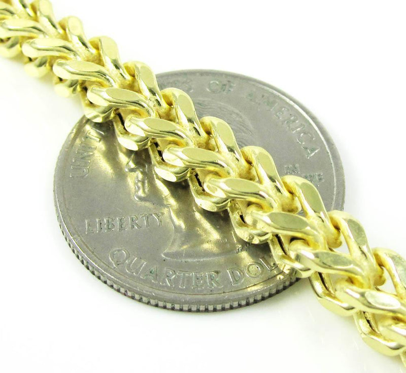 10K Yellow Gold 5.5MM Hollow Franco Chain, Chain, JJ-AG, Jawa Jewelers
