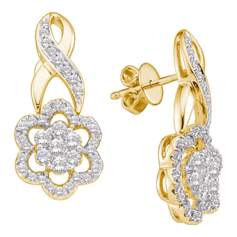 screw back diamond earrings gold