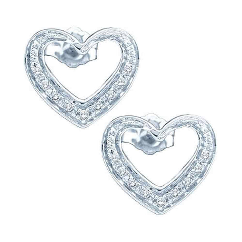 Diamond Cluster Heart Earrings