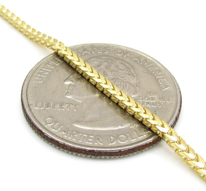 14K Yellow Gold 2MM Solid Franco Chain, Chain, JJ-AG, Jawa Jewelers