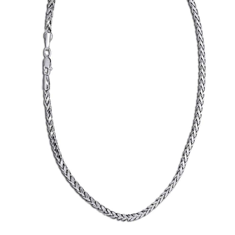 white gold rounded palm chain