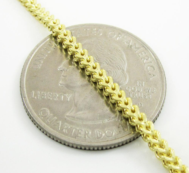 2MM Yellow Gold Franco Chain