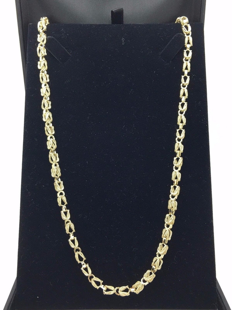 "9MM Womens 10K Yellow Gold Turkish Style Link Chain Necklace 26""-32"" Inches, Chain, JJ-AG, Jawa Jewelers"