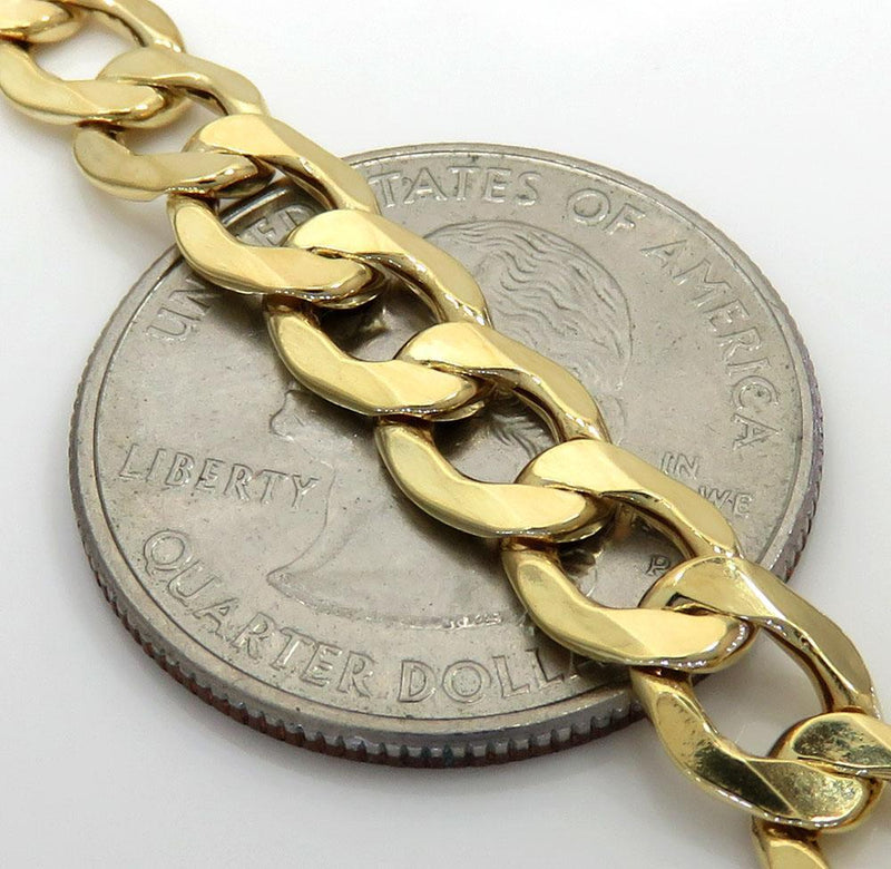 7MM 10K Yellow Gold Cuban Link Chain Necklace, Chain, Jawa Jewelers, Jawa Jewelers