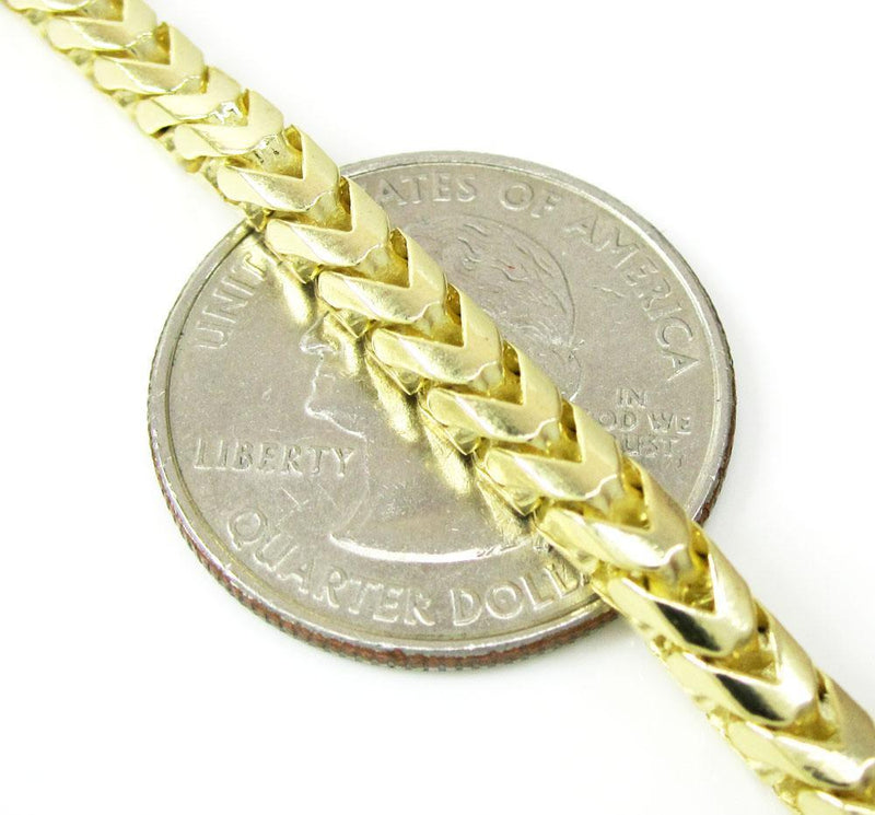7MM solid gold franco chain