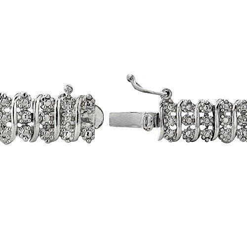 "14K White Gold Finish 2.10 CT Diamond Tennis Bracelet 8"", , Jawa Jewelers, Jawa Jewelers"