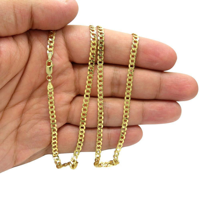 5.5MM 10K Yellow Gold Hollow Cuban Chain, Chain, Jawa Jewelers, Jawa Jewelers