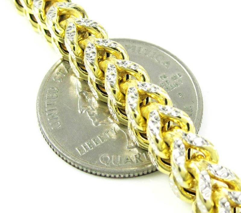 6MM Yellow Gold Franco Chain