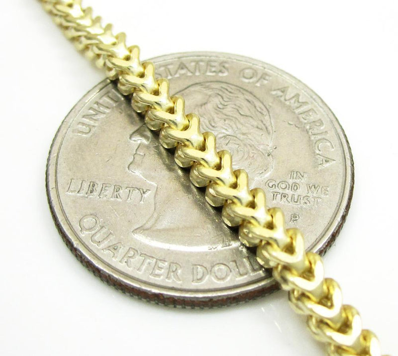 3MM Yellow Gold Franco Chain