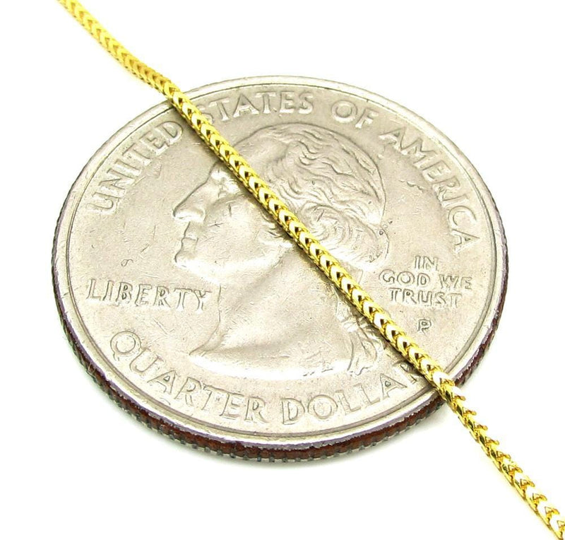 1MM Yellow Gold Franco Chain