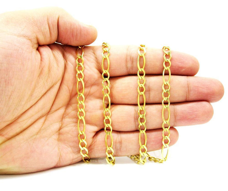 6.5MM 10K Yellow Gold Figaro Link Chain Necklace, Chain, Jawa Jewelers, Jawa Jewelers