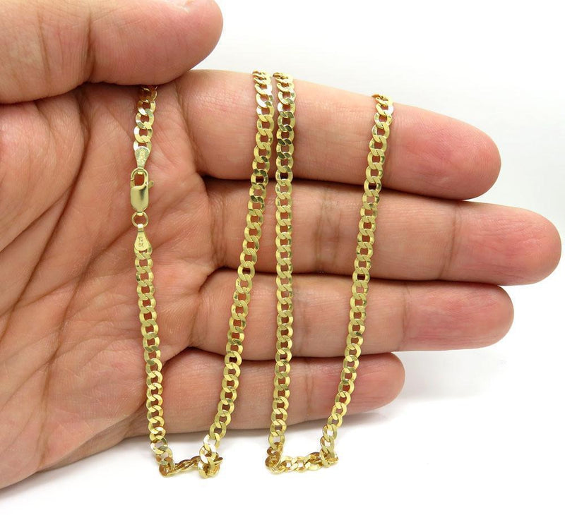 4.5 mm cuban chain link bracelet