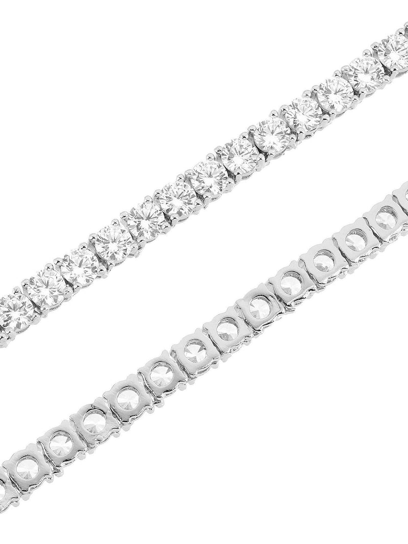 5MM 14K Gold Finish CZ Diamonds Choker Tennis Chain