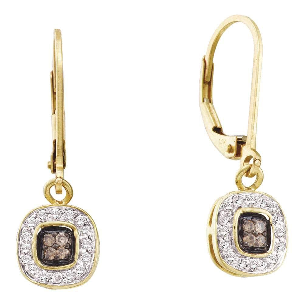 Yellow Gold Diamond Dangle Earrings