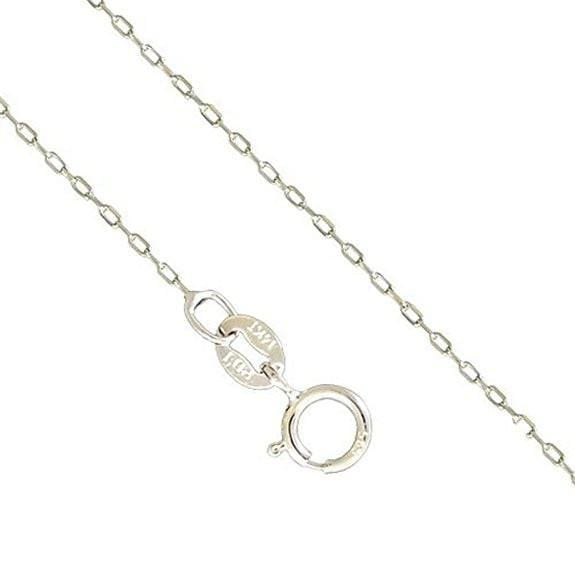 14K White Gold 1 MM Cable Necklace Spring Clasp 16-22 Inches, Chain, Jawa Jewelers, Jawa Jewelers