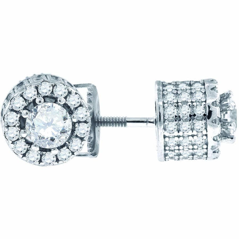 925 Sterling Silver Cubic Zirconia CZ Stud Unisex Earrings, Earrings, JJ-SLV, Jawa Jewelers