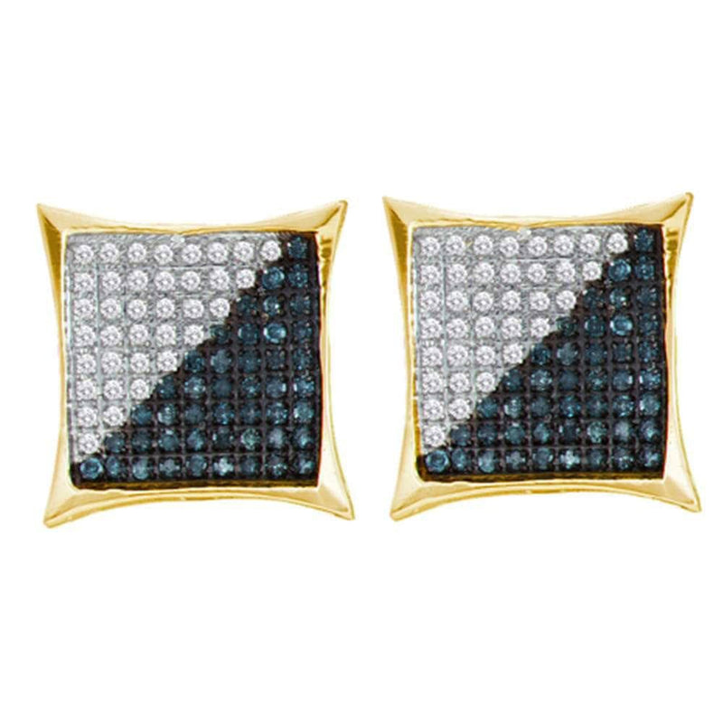 square diamond earrings mens