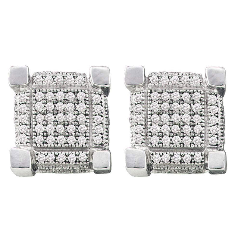 Diamond Square cluster Earrings