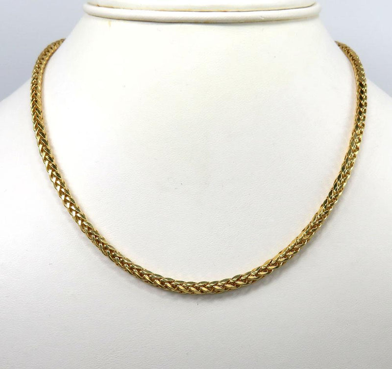 18 inch solid gold franco chain