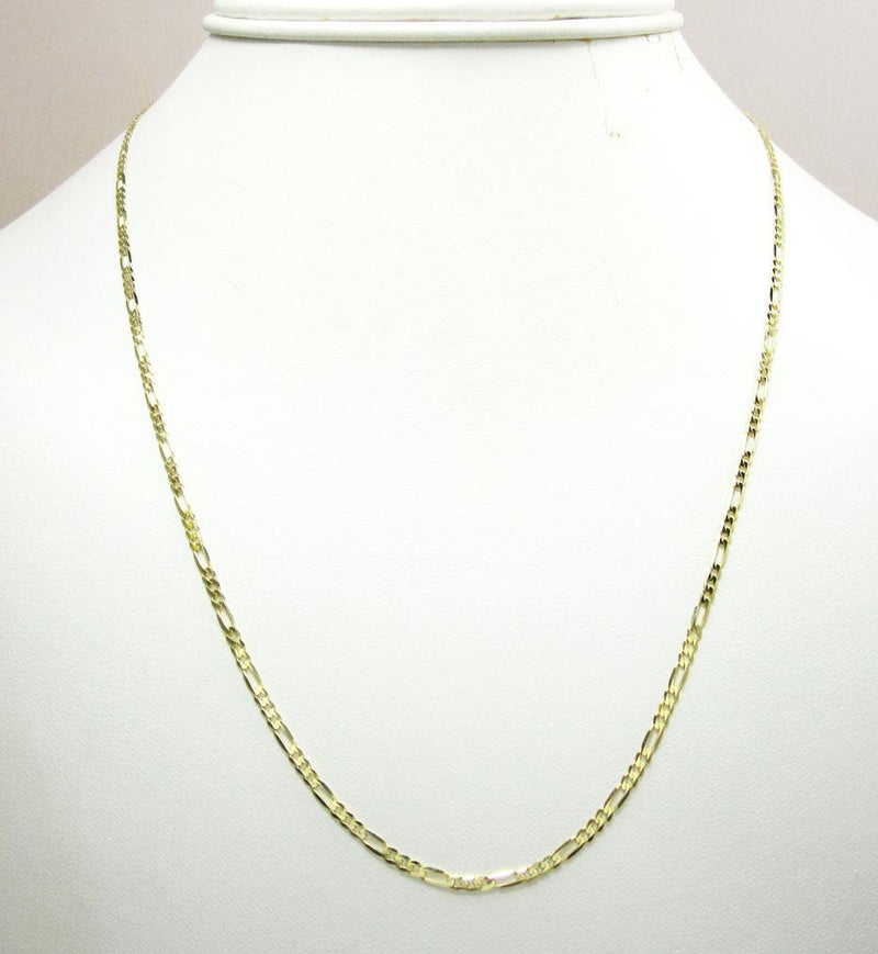 2.5MM 10K Yellow Gold Figaro Link Chain Necklace, Chain, Jawa Jewelers, Jawa Jewelers