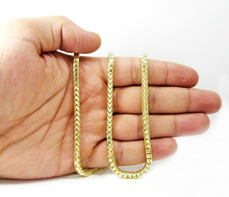solid gold franco chain on hand