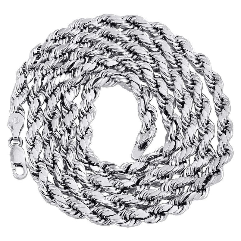 White Gold Rope 5mm Chain necklace