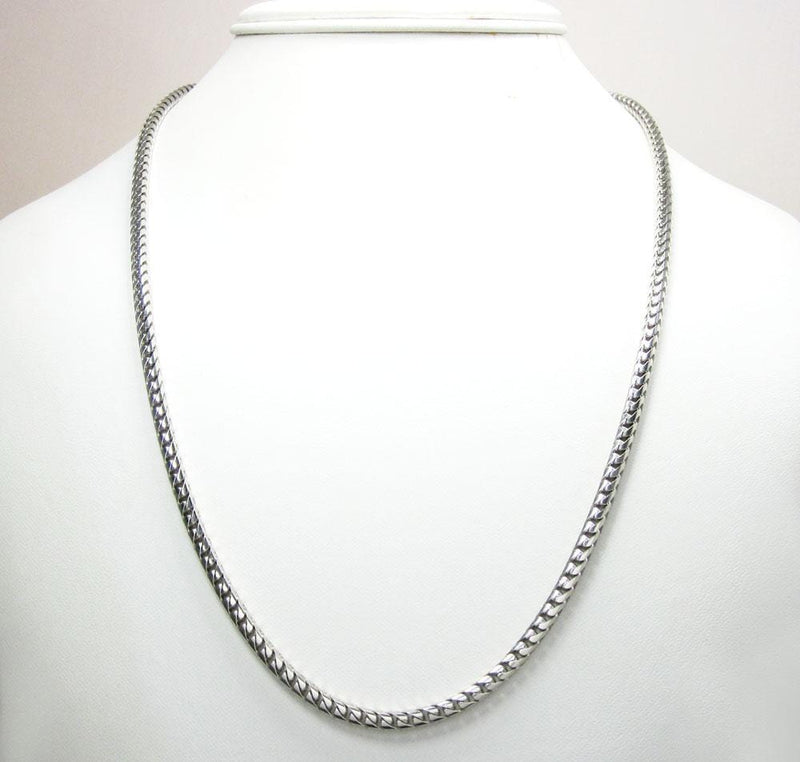 10K White Gold 4.5MM Diamond Cut Franco Chain, Chain, JJ-AG, Jawa Jewelers