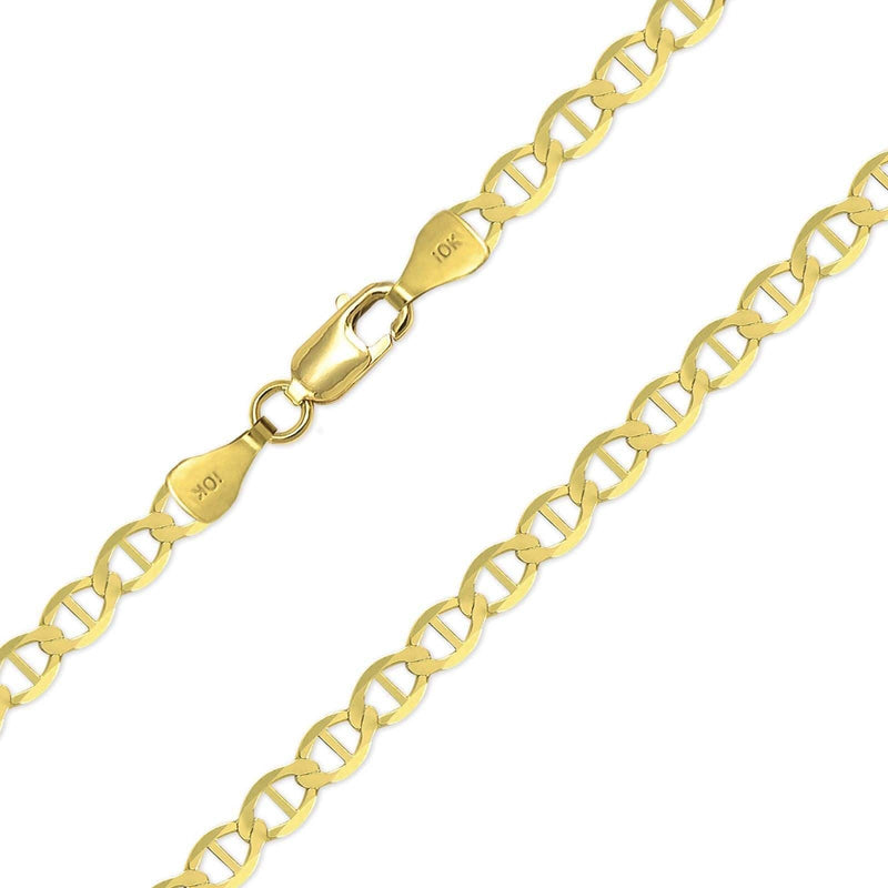 5MM 10K Yellow Gold Mariner Link Chain, Chain, Jawa Jewelers, Jawa Jewelers