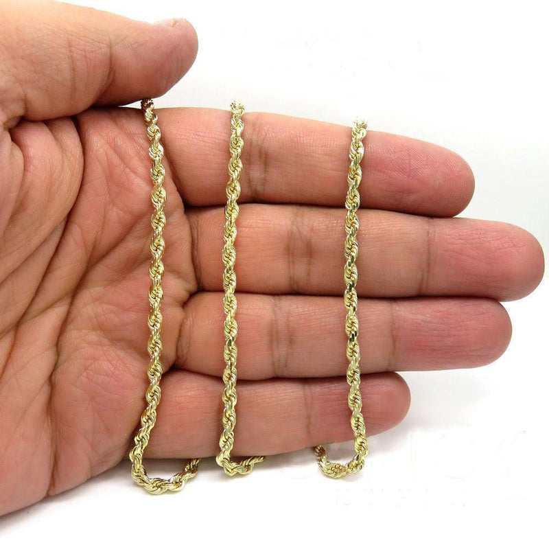 yellow Gold Rope Chain on hand